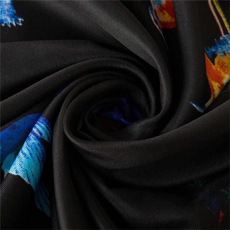 Di Lusso di Marca 100% Twill di Seta Della Sciarpa Donne Sciarpe Quadrate Uccello di Pagare Omaggio a La Fenice Sciarpa di Seta E Scialli Avvolge hijab 130*130 Centimetri