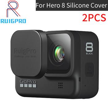 Dla Gopro Hero 8 Hero8 czarne szkła obudowa obudowa ochronna przypadku dla sportu kamery sportowe Go Pro Hero 8 akcesoria tanie i dobre opinie ruigpro For gopro 8 cover Pakiet 4 Silikon