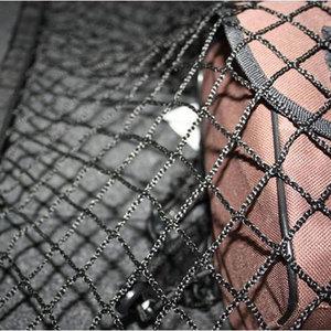 Image 4 - Universal Cargo Net für Auto Stamm 70x70cm Stamm Gepäck Lagerung Transport Organizer Nylon Dehnbare Elastische Mesh Net mit 4 Haken