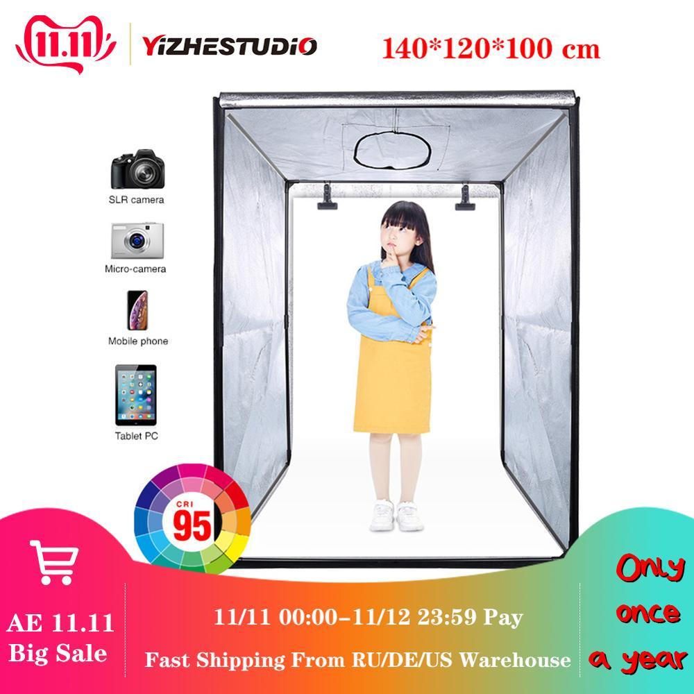 140*120*100 cm led estúdio portátil profissional macio caixa led photo studio iluminação de vídeo tenda para caso do trole roupas das crianças