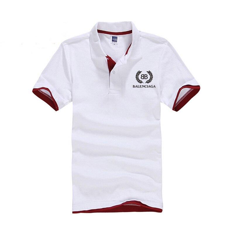 2019 nova camisa   polo   de algodão dos homens marcas esportivas camiseta femme ventilar Verão respirável com Paris família mangas