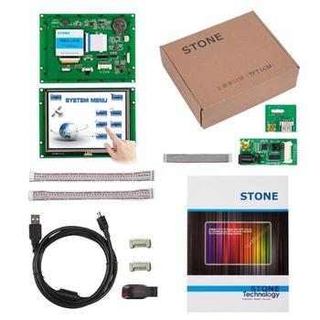 5.6 Inch HMI  Graphic TFT LCD Display Module with Touch & CPU RS232/RS485/TTL Interface 4 3 inch hmi tft lcd display with serial interface rs232 rs485 ttl for equipment use