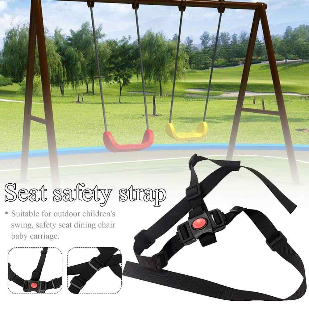Cinturón de seguridad de 3 puntos para bebé, cinturón de arnés de seguridad fijo, accesorios para silla de bebé, trona de protección para niños, correas para Triciclo de bebé