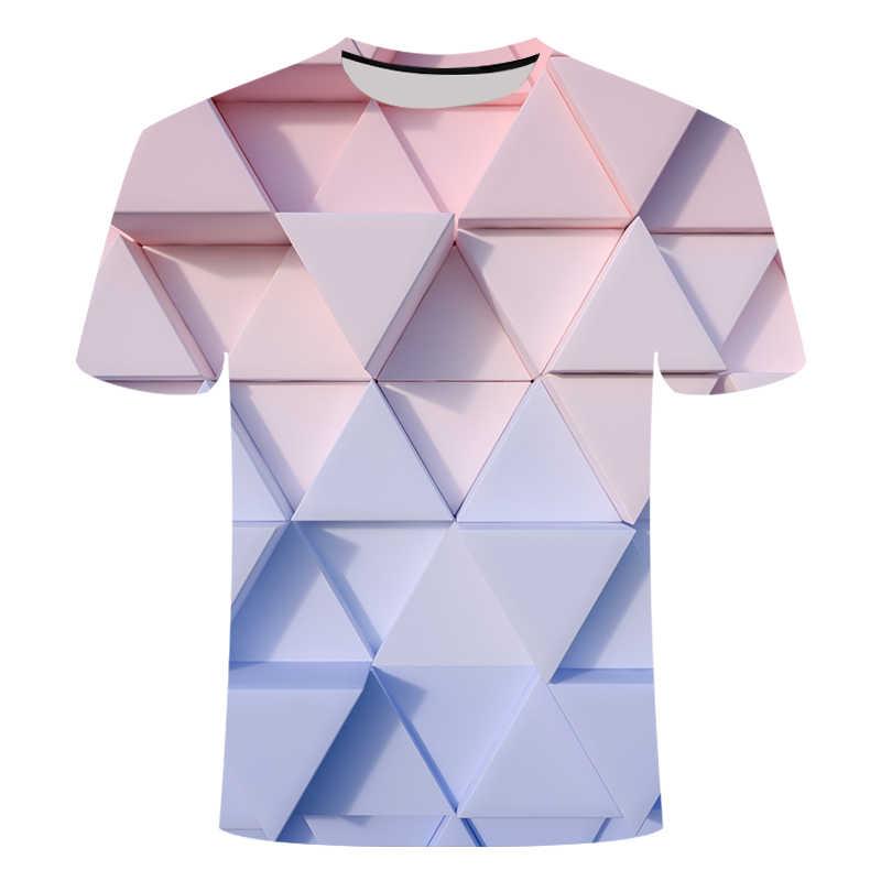 Dropshipping Nieuwe Kleur T-shirt 3D Gedrukt T-shirt Mannen & Vrouwen Ronde Hals Korte Mouwen Losse En Comfortabele Sportkleding 6XL