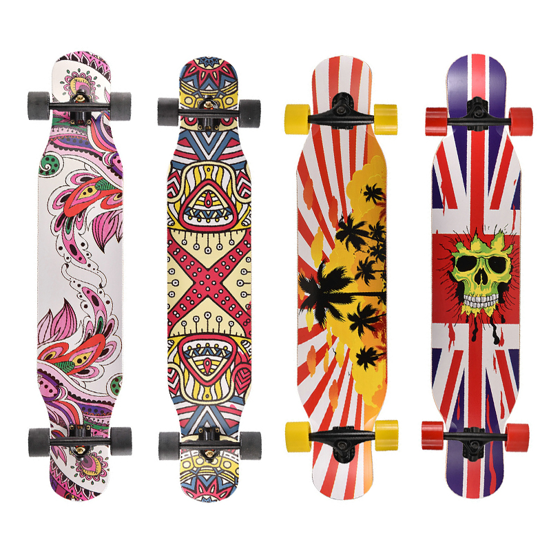 Image 5 - Professional Complete Longboard Skateboard Street Dancing Longboard Skateboard Downhill Maple Deck Board-in Skate Board from Sports & Entertainment