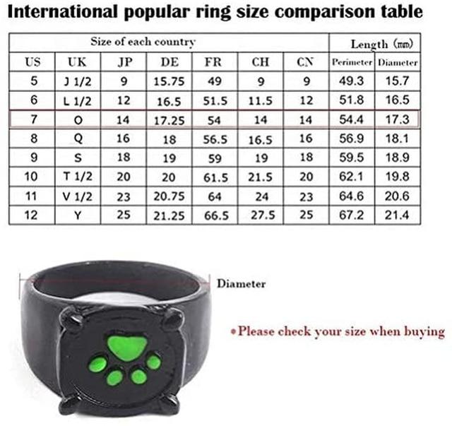 Dog  Rings Cute Black  5