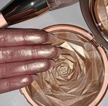 Hudamoji 6 cores highlighter pó glitter paleta maquiagem brilho rosto contorno shimmer iluminador destaque cosméticos atacado