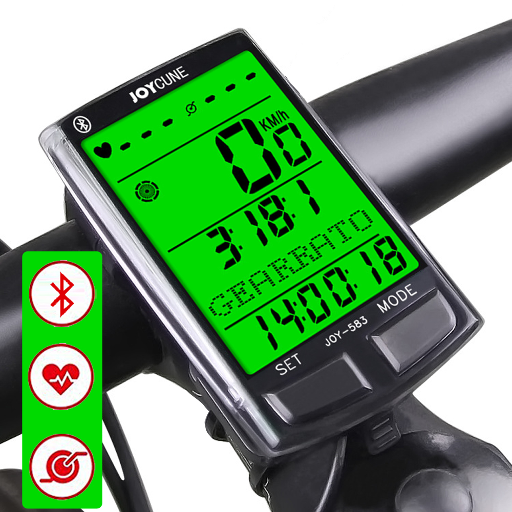 Bicycle Computer Wireless And Wired MTB Bike Cycling Odometer Stopwatch Speedometer Watch LED Heart Rate Running Bike Monitor