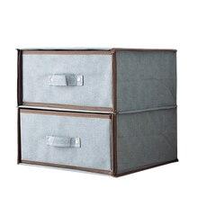 Двухслойный ящик для хранения нижнего белья, ящик для хранения тканевого нижнего белья, бытовой шкаф для хранения одежды, органайзер для одежды