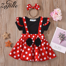 ZAFILLE Baby Kleidung Minnie Kleid Polka Dot Nette Kleinkind Mädchen Sets Bowknot Röcke Sets Sommer Neugeborenen Baby Mädchen Kleidung