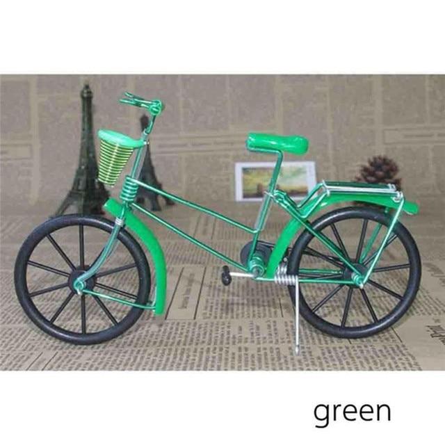 Antique Bike Model Metal Craft Home Decoration Vintage Bicycle Figurine Miniatures kids Gift Mini Creative Crafts 4