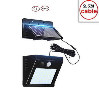 30 LED Solar Ligh Solar Power PIR Motion Sensor Wall Light Waterproof IP65 Outdoor Security Lamp Garden Street Light indoor home