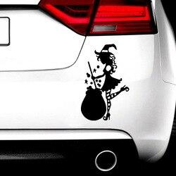 Красочные наклейки с ведьмой для автомобилей, креативные виниловые наклейки на автомобиль, наклейки и переводки, наклейки на окно, стильная...