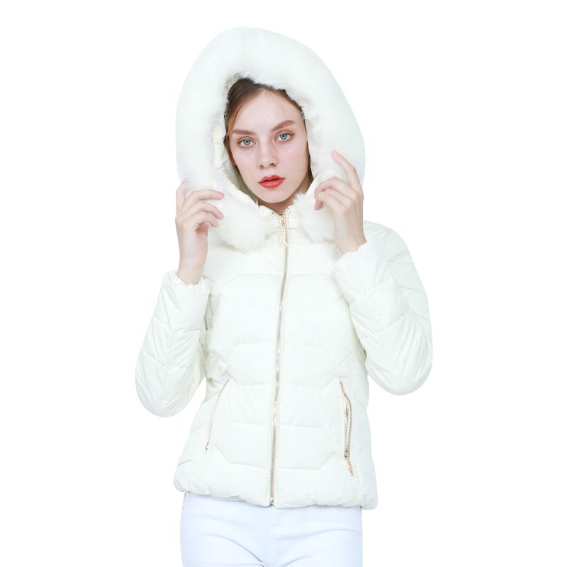 Image 4 - Winter Down Jackets Women Fashion Warm Coat Cotton Thickening  Parka Fur Collar Jackets with Hooded Detachable Cap Winter  ClothesParkas