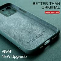 Funda de teléfono de silicona líquida Original para iPhone, 11 Pro, XS, Max, X, XR, 7, 8, 6, 6S Plus, SE 2, 2020, funda protectora de lente de cámara de Gel suave