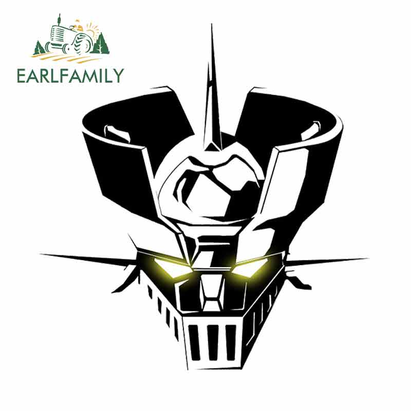EARLFAMILY 13cm x 9.8cm GUNDAM Car Sticker Helmet Motorcycle Accessories Oem JDM Cartoon Sunscreen Waterproof  Polyethylene