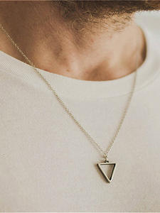 Necklace Men Long-Chain Fashion Jewelry Gothic Punk Hip-Hop Party Triangle Women