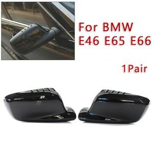 Image 4 - For BMW E46 E65 E66 745i 750i Mirror Cover 51167074236+51167074235 Mirror Cover Protable High Quality Newest Useful