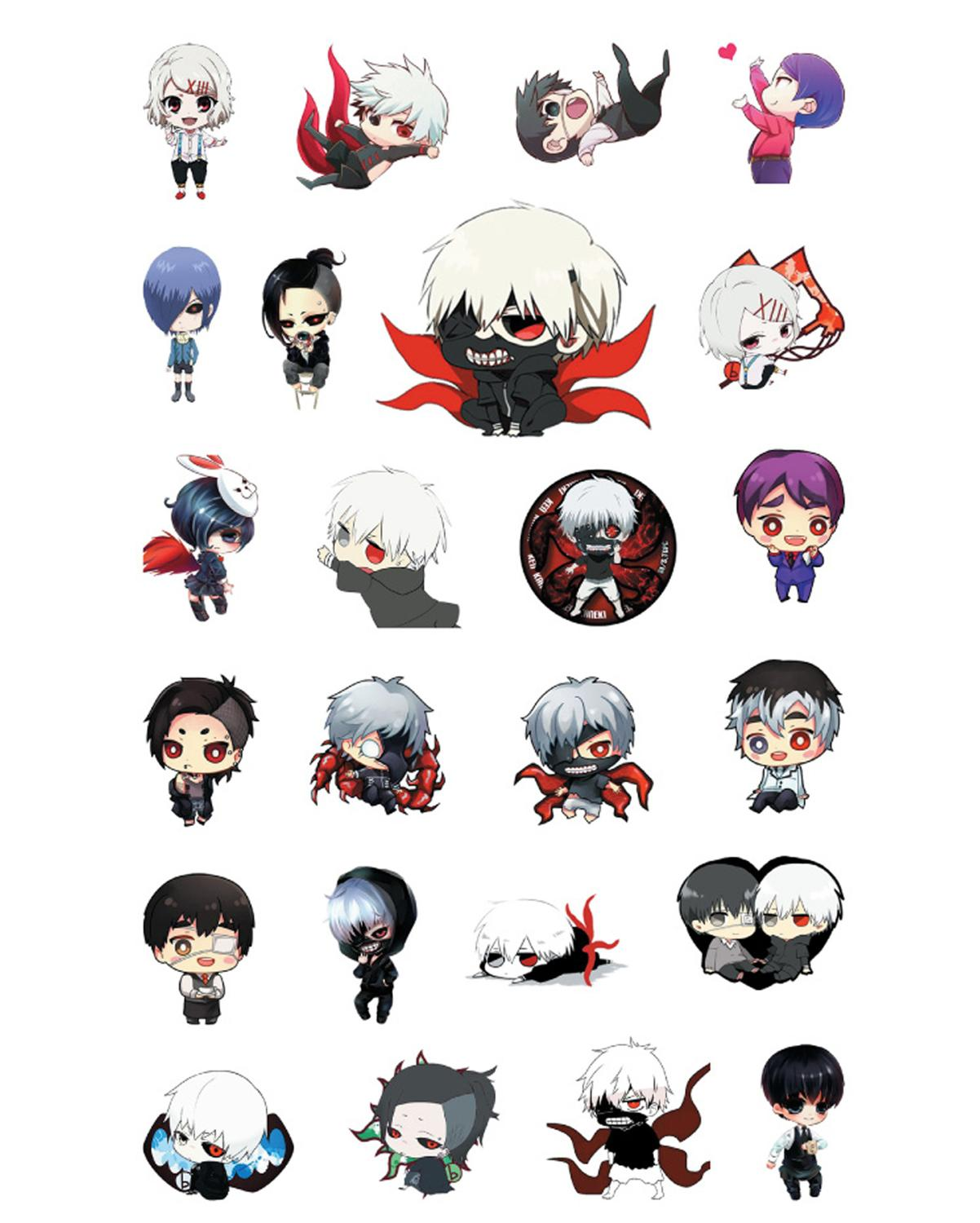 Anime stickers cartoon exquisite pvc ornaments anime Tokyo Ghoul/Fate/Himouto! Umaru-chan transparent