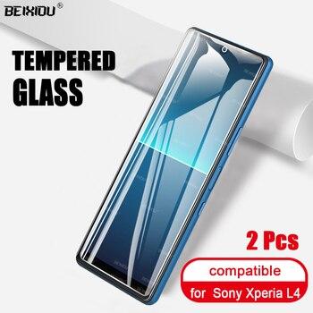 Перейти на Алиэкспресс и купить 2 шт Полное закаленное стекло для Sony Xperia L4 защита экрана 2.5D 9h закаленное стекло для Sony Xperia L4 защитная пленка