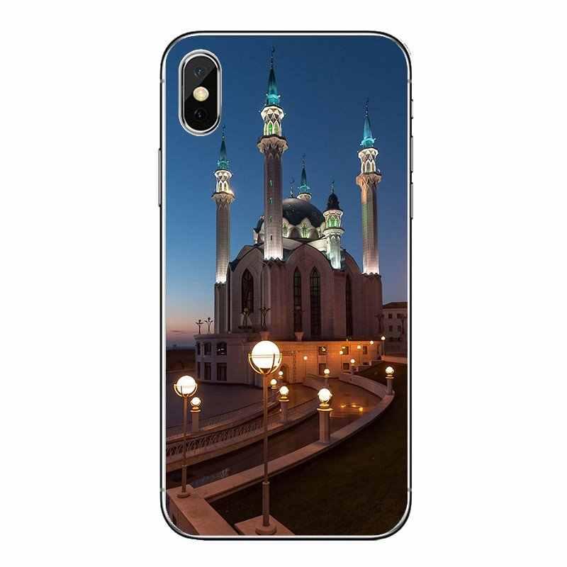 Coques souples transparentes pour Samsung Galaxy A5 A6 A7 A8 A9 J4 J5 J7 J8 2017 2018 Plus Prime Qolsharif mosquée Kazan russie