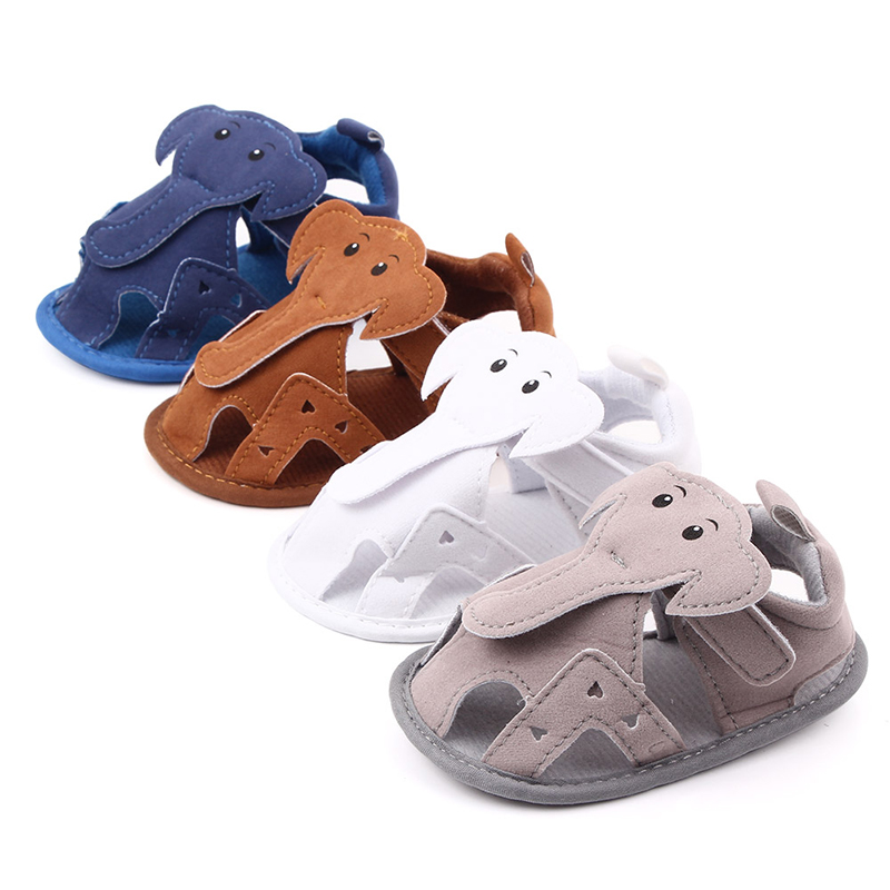 Baby Girls Breathable Anti-Slip Shoes Cartoon Elephant Summer  Sandals Toddler Soft Soled Toddler Babe Boys Sandals