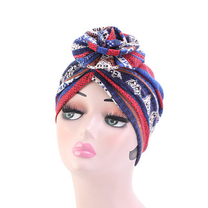 Image 5 - Nova moda elegante 3d flor turbante mulheres câncer quimio gorros bonés muçulmano turbante festa hijab headwear acessórios para o cabelo