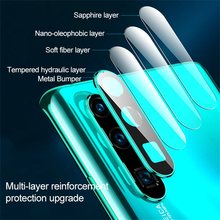 New Camera Lens Protector 9H Tempered Glass Metal Protective Ring Cover for Huawei P30 pro Lite Mobile Accessories(China)