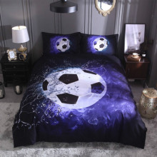 UK Siz Bedclothes 3D Bed Linen Set Football Duvet Cover +pillowcase (no Sheet) Basketball Blue Black Bedding Set Home 200*200