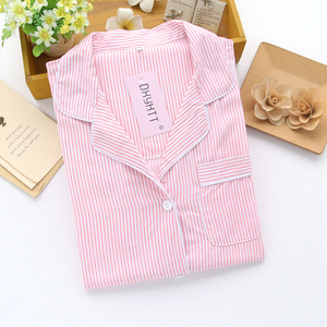 Image 3 - Womens Viscose Cardigan Striped Plus Size Long sleeved Nightdress Womens Knitted Robe Dressing Gown Pink Bathrobe Sleepwear