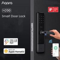 AQara N200 Smart Door Lock 3D Fingerprint Password NFC Unlock Class C Mechanical Lock with Doorbell Support Mijia Apple HOMEKIT