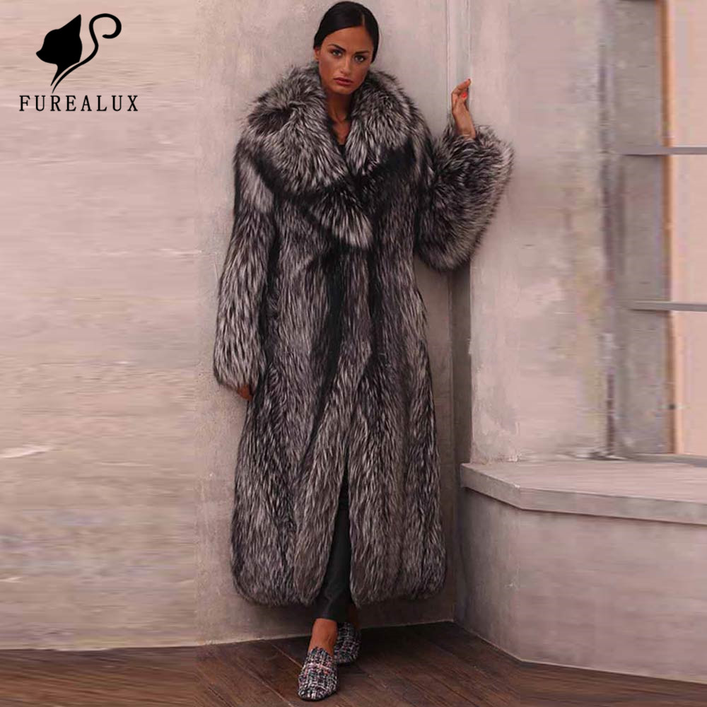 Jackets Clothing Fur-Coat Russian Handmade Winter Genuine-Leather Women's New Warm Thick