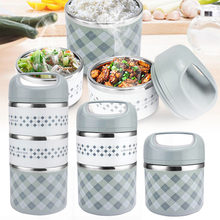 Portable Stainless Steel Thermal Lunch Box For Office Lunchbox Leakproof Thermos Lunch Box Food Container(China)