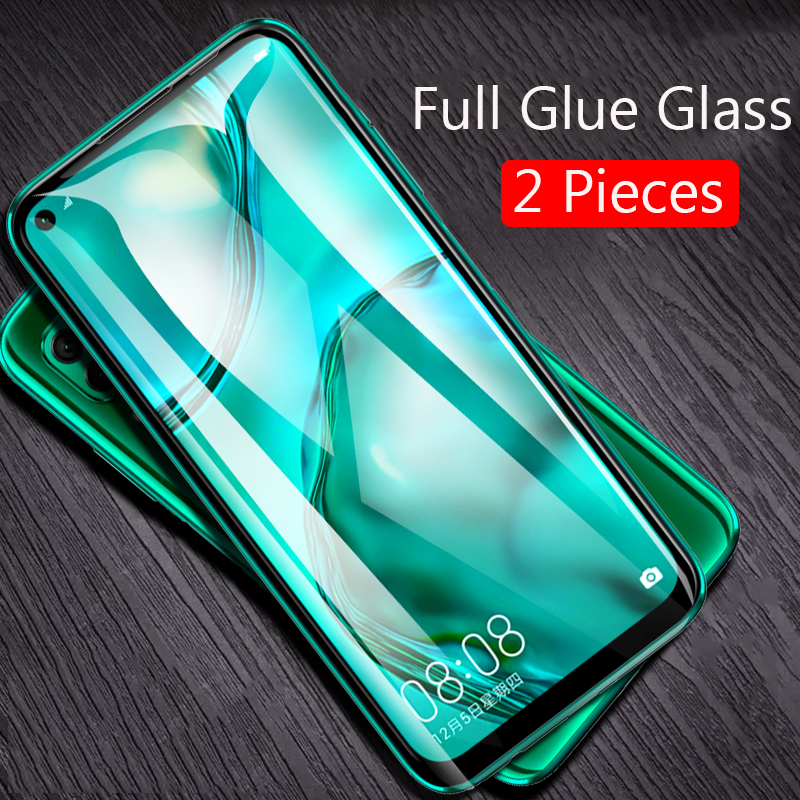 Lainergie For Huawei P40 Lite Tempered Glass Full Glue 9H Shock-Proof Screen Protector For P40 Lite E P40Lite Glass