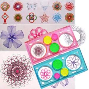 Мультифункциональная головоломка для рисования, Геометрическая линейка спирографа, инструменты для рисования для студентов, игрушки для рисования, инструмент для обучения детей