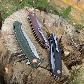 TUNAFIRE Portable folding knife 59-60 high hardness D2 camping self-defense survival knife self-defense knife 6