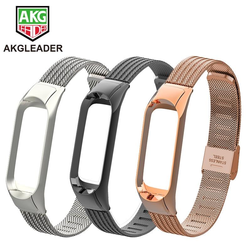 Mi Band 3 4 Wrist Strap Metal Screwless Steel For Xiaomi Mi Band 2 Bracelet Miband 3 Wristbands Pulseira Miband 4 Wrist Strap