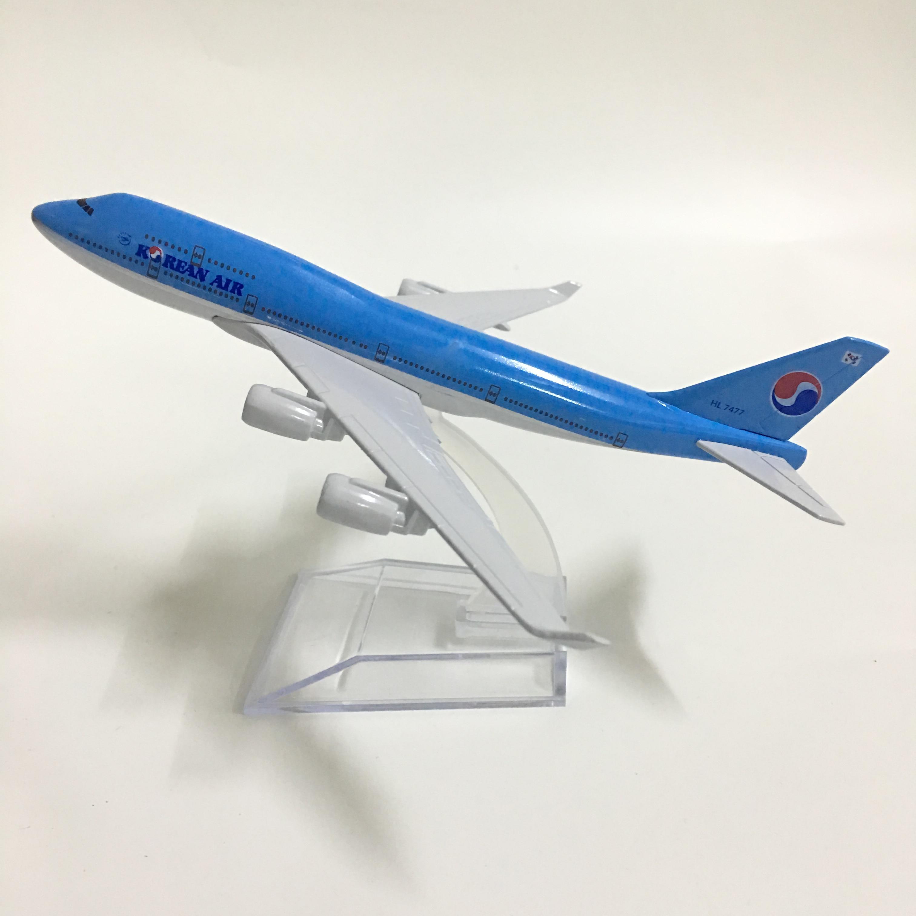 JASON TUTU 16cm Korean Air Boeing 747 Aircraft Model Diecast Metal 1:400 Plane Model Airplane Model Airplanes Plane Toy Gift