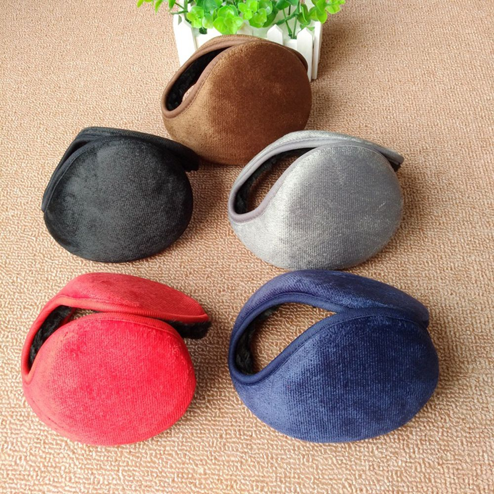 New Winter Unisex Men And Women Plush Rear Wear Fleece Warmer Earmuff Warm Plush Cloth Ear Muffs Cover Earwarmers Earlap Warmer