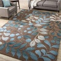Nordic Abstrakte Blume Art Teppich Für Wohnzimmer Schlafzimmer Anti slip Große Teppich Boden Matte Mode Küche Teppiche Bereich teppiche-in Teppich aus Heim und Garten bei
