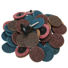 45pcs/Set 2 Fine/Medium/Coarse Grit Cleaning Conditioning Roll Lock Surface Sanding Discs with 1pc Roloc Disc Pad Holder