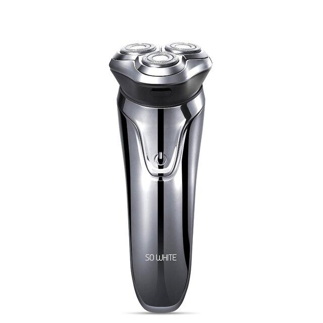 SOOCAS SO WHITE ES3 Electric Shaver Razor Shaving Machine LED Digital Display Rechargeable 3D Trimmer Beard For Men