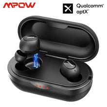 Mpow ipx7 T5/M5 tws イヤホンワイヤレスイヤフォン bluetooth 5.0 ヘッドセットのサポート aptx 42h 再生時間 iphone xs xiaomi huawei 社
