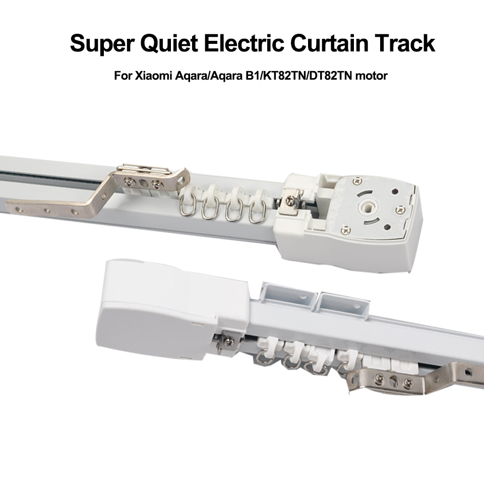 Customizable Super Quiet Electric Curtain Track For Xiaomi Aqara/Aqara B1 Motor/Dooya KT82/DT82,Smart Curtain Rails System