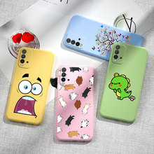 Redmi 9T Case Cover Candy Color Cartoon Phone FOR Xiaomi Redmi 9T Redmi9t Redmi 9 T Funda Soft Matte Silicone Cute TPU Bumper