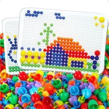 Gwoździe pisownia Puzzle zabawki dla dzieci prezenty 2019 nowość dziecko deska grzyb paznokci połączenie klocki Puzzle gra grzyb