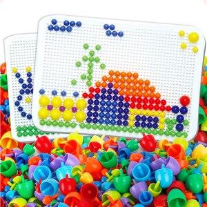 Image 1 - Çivi yazım bulmaca çocuk için oyuncak hediyeler 2019 yenilik çocuk kurulu mantar tırnak kombinasyonu yapı taşları bulmaca oyunu mantar
