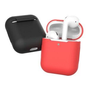 Image 4 - Силиконовый чехол Защитный чехол для Apple AirPods TPU Bluetooth наушники Мягкий силиконовый чехол для Air Pods 2 чехол s
