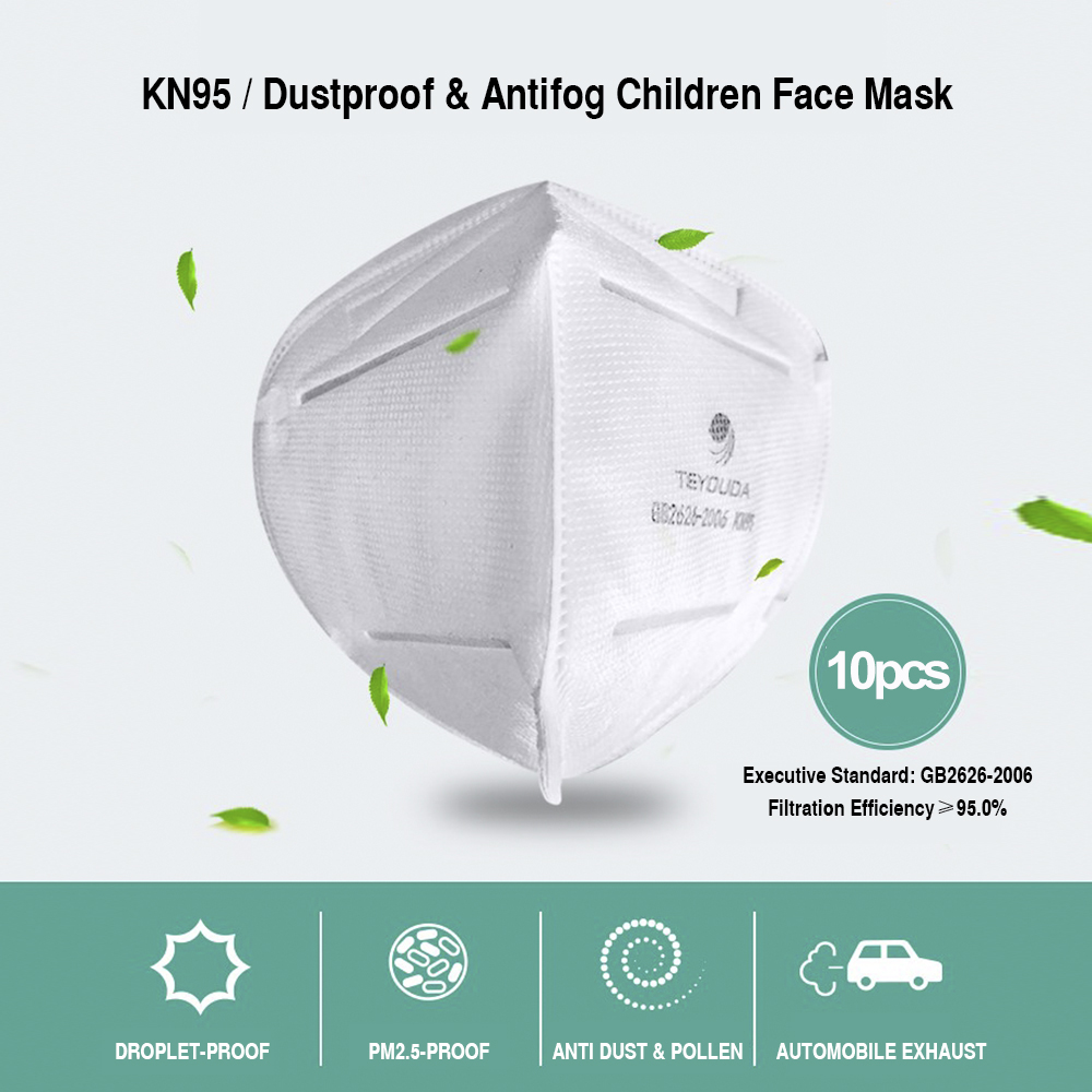 KN95 Mask 10pcs Anti Dust KN95 Face Mask 4-Layer PM2.5 Protective 95% Filtration Against Droplet N95 Mouth Cover