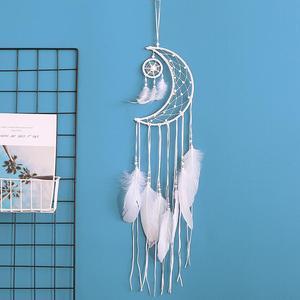 Image 2 - Dream Catcher Moon Mini Handmade Craft Home Hanging Room Decoration Car Ornament Girls Room Decor Dreamcatcher